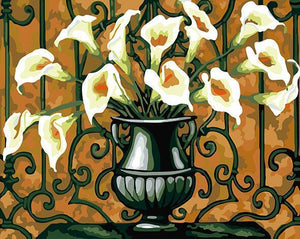 Arum Lilies Paint by Numbers