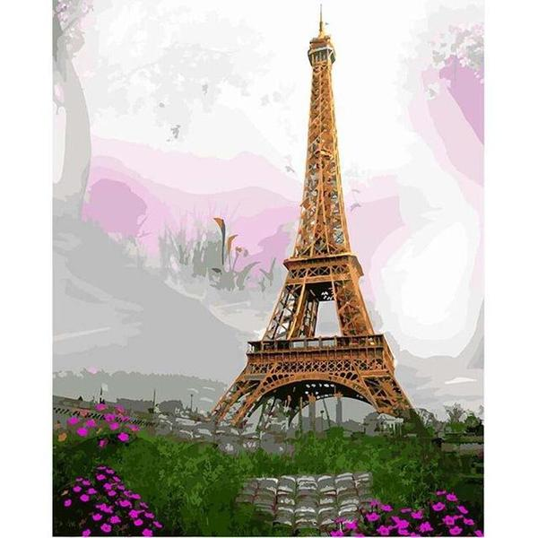 Beautiful Eiffel Tower Paint by Numbers