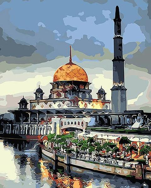 Beautiful Mosque Paint by Numbers