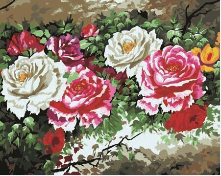 Beautiful Roses Paint by Numbers