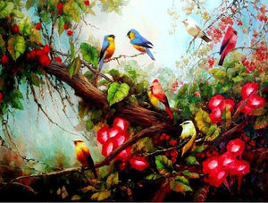 Birds & Flowers Paint by Numbers