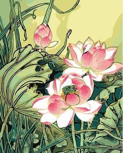 Blooming Lotus Paint by Numbers