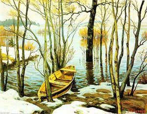 Boat in Woods Paint by Numbers