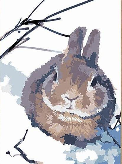 Brown Rabbit Paint by Numbers