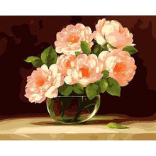 Load image into Gallery viewer, Bunch of Pink Peonies Paint by Numbers