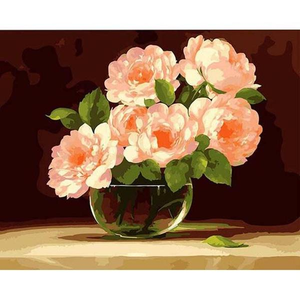 Bunch of Pink Peonies Paint by Numbers