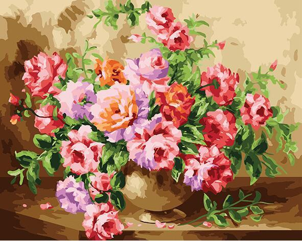 Bunch of Roses Paint by Numbers