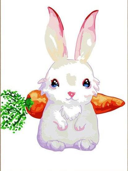 Bunny & Carrot Paint by Numbers