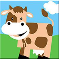 Cartoon Cow Paint by Numbers