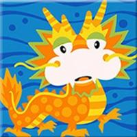 Cartoon Dragon Paint by Numbers