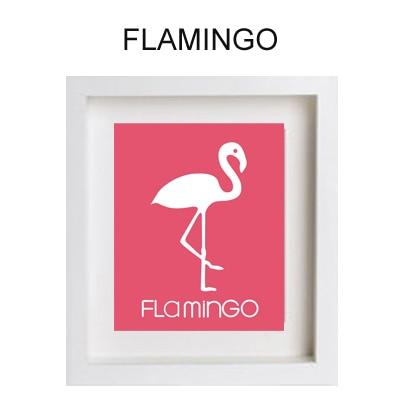Cartoon Flamingo Paint by Numbers