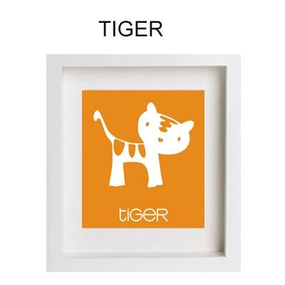 Cartoon Tiger Paint by Numbers