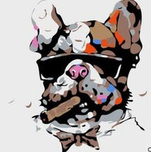 Load image into Gallery viewer, Cartoonist Bull Dog Paint by Numbers