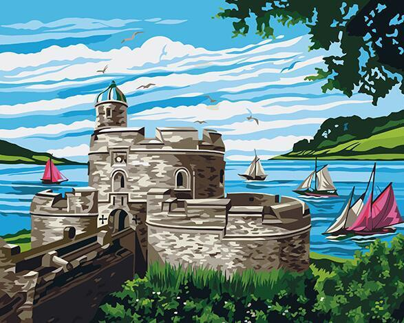 Castle by the Sea Paint by Numbers