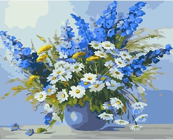 Chamomile Flowers Paint by Numbers