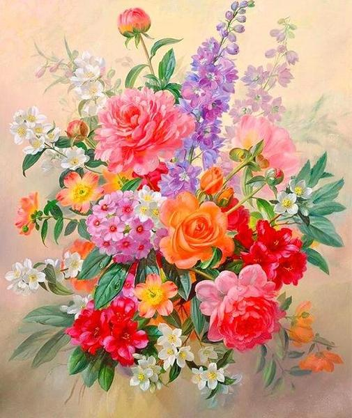 Charming Bouquet Paint by Numbers
