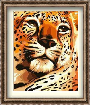 Cheetah Paint by Numbers