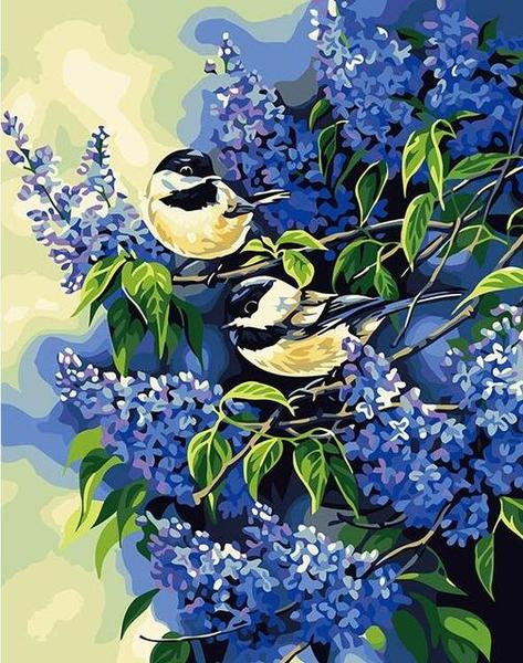 Chickadee Pair Paint by Numbers