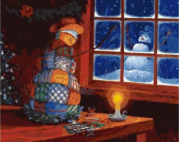 Christmas Night Paint by Numbers