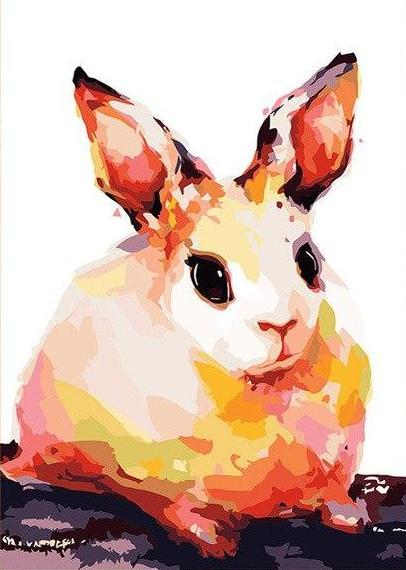 Chubby Rabbit Paint by Numbers