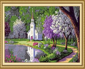 Church & Garden Paint by Numbers