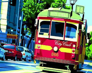 City Circle Tram Paint by Numbers