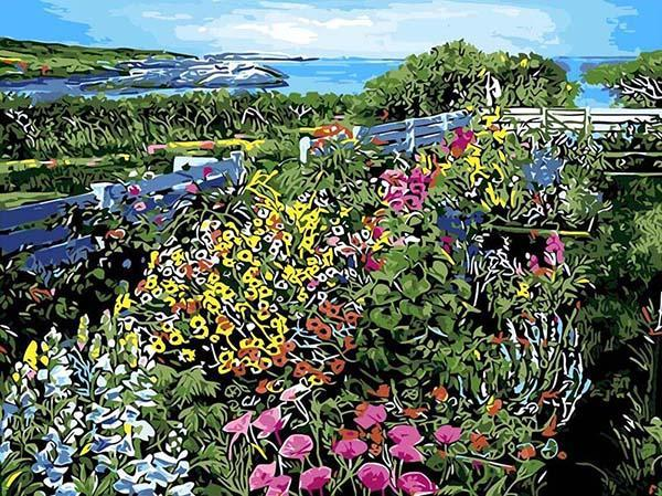 Colorful Floral Garden Paint by Numbers