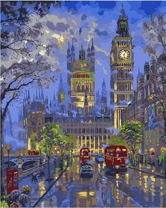 Colorful London Paint by Numbers