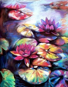 Colorful Lotus Paint by Number
