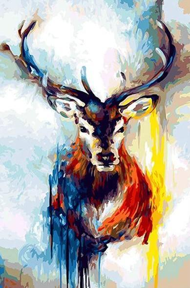 Colorful Reindeer Paint by Numbers