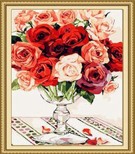 Load image into Gallery viewer, Colorful Roses Paint by Numbers