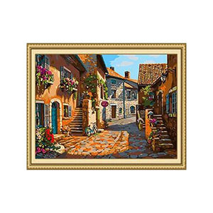Countryside Village Paint by Numbers