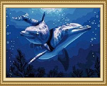 Load image into Gallery viewer, Cute Dolphins Paint by Numbers
