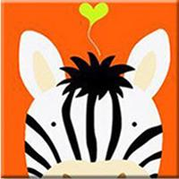 Cute Zebra Paint by Numbers