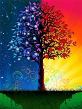 Load image into Gallery viewer, Day & Night Tree Paint by Diamonds