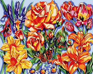 Dazzling Flowers Paint by Numbers