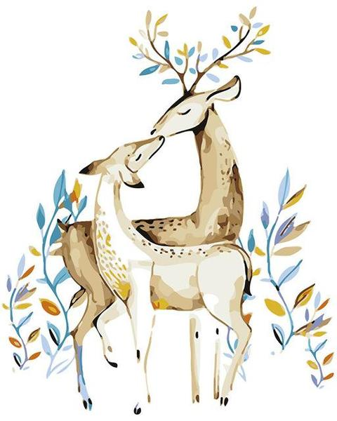 Deer in Love Paint by Numbers
