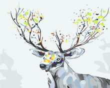 Load image into Gallery viewer, Deer with colorful Horns Paint by Numbers
