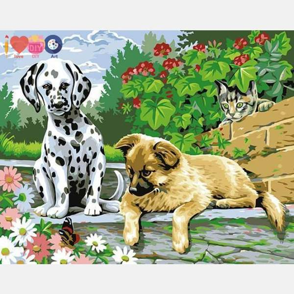 Dogs & Cat Paint by Numbers