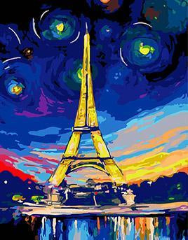 Eiffel Tower Paint by Numbers