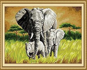 Elephant Family Paint by Numbers