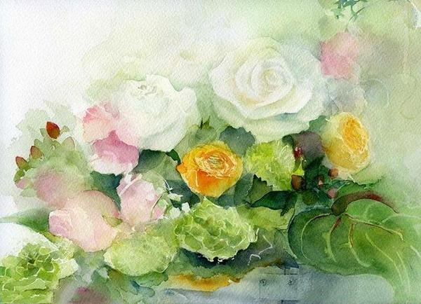 Enchanting Roses Paint by Numbers