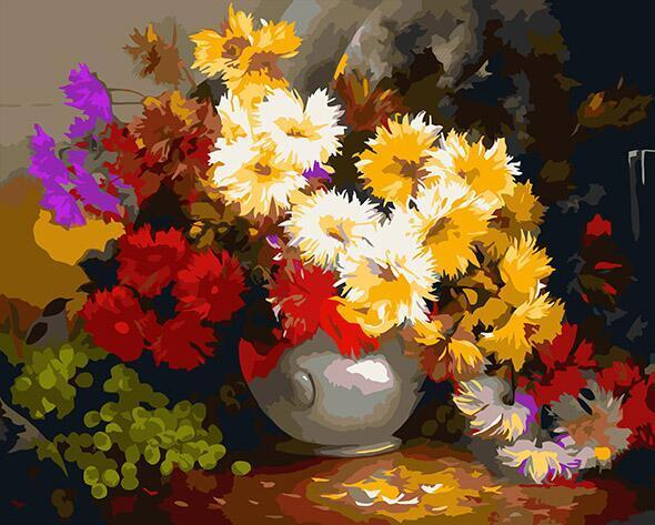 Fabulous Flowers Paint by Numbers