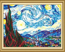 Load image into Gallery viewer, Faraway Starry Night Paint by Numbers