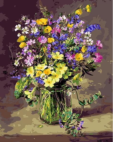 Floral Glass Jar Paint by Numbers