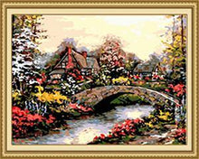 Load image into Gallery viewer, Floral House View Paint by Numbers