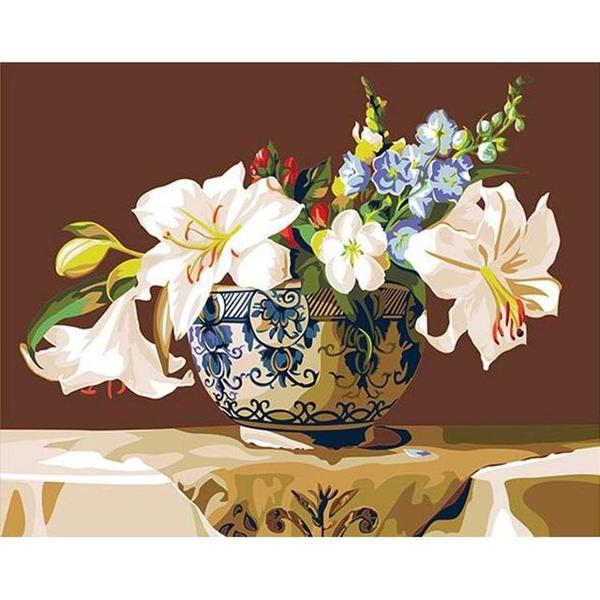 Flower Pot Paint by Numbers