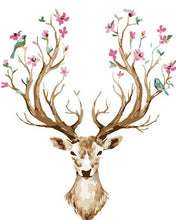 Load image into Gallery viewer, Flowers & Birds on Deer's Horn Paint by Numbers