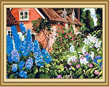 Load image into Gallery viewer, Flowers & House Paint by Numbers