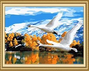Flying Birds Paint by Numbers